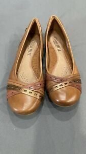 Cobb Hill By New Balance Womens Leather Slip On Shoes Brown SIze 8 New