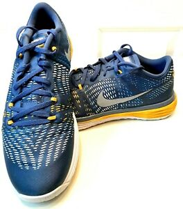 NIKE Mens LUNAR CALDRA OCEAN FG/White/Gold Lace Up Road Running Jogging Sneaker