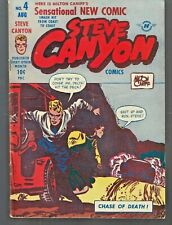 STEVE CANYON #4 1948 HARVEY BY MILTON CANIFF VG/FN '' CHASE OF DEATH ''