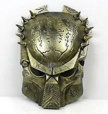 Mens Boys Unisex Gold Predator Movie Fancy Dress Face Mask Halloween Horror