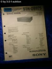 Sony Service Manual STR DB925 FM/AM Receiver (#5224)