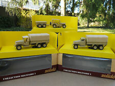 SOLIDO LOT GMC + JEEP  COULEUR SABLE HORS COMMERCE MINIATURES NEUVES BOITES