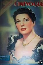 CINEVOGUE 1947 N 82 VIVIANE ROMANCE  -EDWIGE FEUILLERE