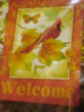 """New listing Garden Flag """" Welcome Cardinal """" 12.5 X 18 ( Vibrant Colors )"""