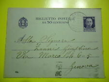 CARD POSTAL 50 CENT. FROM STAR (SV) IN GENOA IN THE 1940