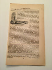 K41) Distant View of Fort Niagara New York American Revolution 1860 Engraving