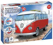 Ravensburger Volkswagen T1 Camper Van 3D Puzzle - 162 Piece.