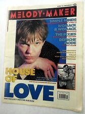 MELODY MAKER Music Magazine 4/15/1989 HOUSE Of LOVE Simple MINDS Pixies MM#9 h