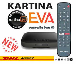 Kartina EVA -WLAN 4K Receiver Kartina.TV von DuneHD mit Bluetooth-Fernbedienung