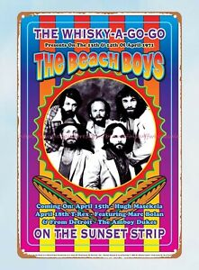 wall art deco Beach Boys at the Whisky A Go Go concert poster 1971 tin sign