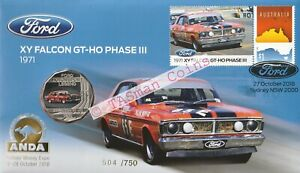 PNC Australia 2018 Ford 1971 XY Falcon GT-HO RAM 50c Coin Gold O/P ANDA Sydney