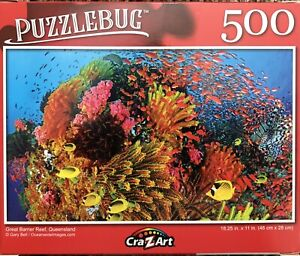 New Puzzlebug 500 Piece Jigsaw Puzzle Great Barrier Reef Queensland Cra Z Art