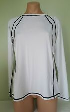 Nike white long sleeve rash guard cover up size L