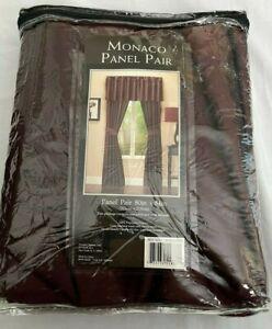 Victoria Classics MONACO Single Panel Curtain Sheer Drapes Window 80 X 84 NEW