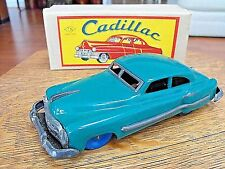 NOMURA CADILLAC GREEN TIN in ORIGINAL BOX c1950s MADE IN JAPAN