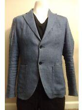 Zara men studio blue linen blazer size 36R pre owned good condition