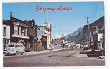 Broadway Avenue Vw Kombi Van Skagway Alaska postcard