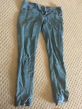 Blue Element Jeans Size 12 Zips At Ankles Skinny Slim Leg Women's Stretch Denim