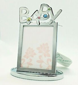 Crystocraft Baby Picture Frame Gift Shower Present made with Swarovski Crystals