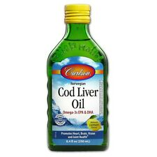 Carlson Labs Code Liver Oil, Natural Lemon Flavor 8.40 oz