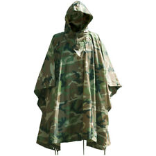 Waterdicht Hooded Ripstop Poncho Festival Camping Wandelen Basha Us Woodland Cam