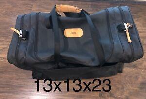 "Jon Hart Black Coated Canvas 23""X13""x13""Large Duffel Bag"