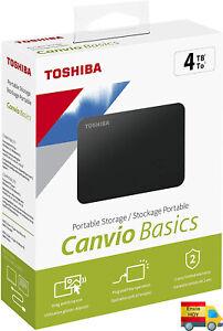 "DISCO DURO EXTERNO TAMAÑO 2.5"" 4TB TOSHIBA CANVIO BASIC USB 3.0 ENVIO HOY"
