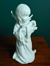 Kaiser Angel with Lamb, White Bisque Porcelain