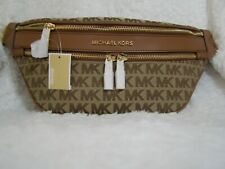 Michael Kors Kenly Medium Waist Pack Crossbody (Beige/Luggage)