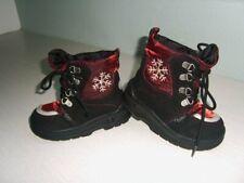 13. Super Winter Stiefel  Gr.23 schwarz rot Leder-Mesch Sympatex