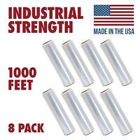 18 X 1000 Tough Pallet Shrink Wrap, 80 Gauge 18 Inch X 1000 Feet Film, 8 Pack