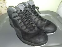 AIR JORDAN 10 X RETRO USED SIZE 14 BLACK WHITE STEALTH 310805 003