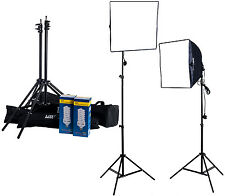 700w Twin Softbox Fluorescent Bulb Daylight Continuous Lighting Kit Padded Case