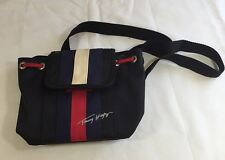 Vintage Tommy Hilfiger Purse Mini Backpack Flag Spell Out Blue Red White