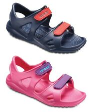 Crocs Kids Swiftwater River Boys Girls Adjustable Lightweight Croslite Sandals.