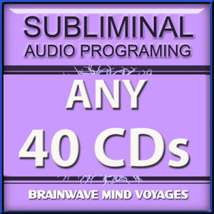 ANY 40 SELF IMPROVEMENT CDs Subliminal Hypnosis ADVANCED BEHAVIOR MODIFICATION
