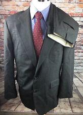 CHAPS RALPH LAUREN Men's Gray Brown Glen Plaid 2-Btn Executive Wool Suit 42R B81