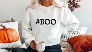 BOO HALLOWEEN WITCHES SLOGAN JUMPER FUNNY SWEATSHIRT FALL AUTUMN GIFT SCARY