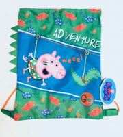 Peppa Pig George Pig 3D Dino Gym Bag Kids Swimming Drawstring PE Trainer Sports