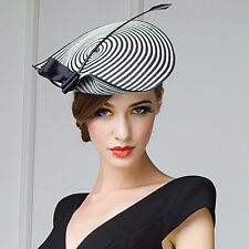 Womens Straw Arrow Fascinator Cocktail Saucer Hats Kentucky Derby Party Wedding