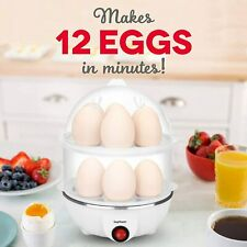 Electric Egg Cooker Big Capacity 350W Rapid Boiler Auto Shut Off 12 Eggs Steamer