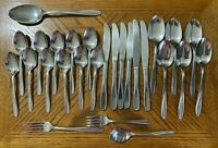 International Silco Stainless PANORAMA Forks Spoons Teaspoons Knives Lot of 27