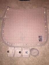 Horze Crescendo Monarch Dressage Pad With Matching Wraps - Taupe