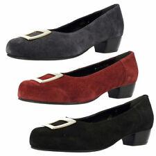 Suede Upper Mary Janes Block Casual Heels for Women