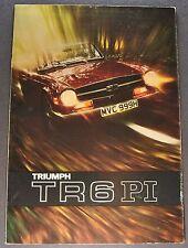 1971 Triumph TR6 PI Catalog Sales Brochure Excellent Original 71