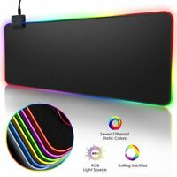 RGB Gaming tapis de souris grand tapis de souris Gamer Led ordinateur tapis