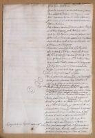 Documento antico - Manoscritto XVIII Secolo - 9 aprile 1789 - carta filigranata