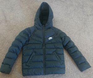Boys Nike Black Puffa Jacket Size Small