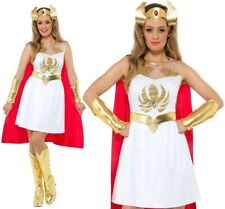 She-Ra Glitter Print Costume, White, with Dress, Cape, Ar (US IMPORT) COST-W