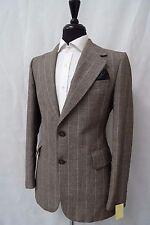 Men's Hepworths Brown Striped Vintage Jacket Blazer 38R CC5371